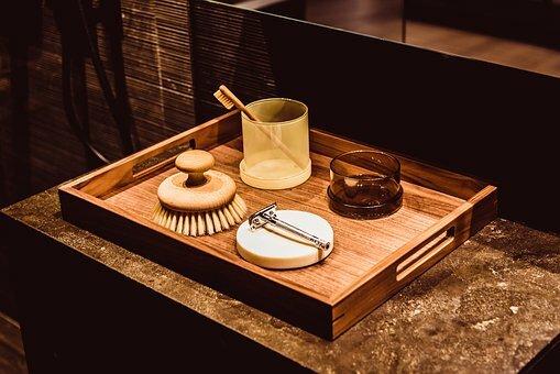 set baño de bambú