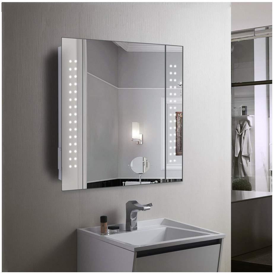 Espejo con luz para baño.