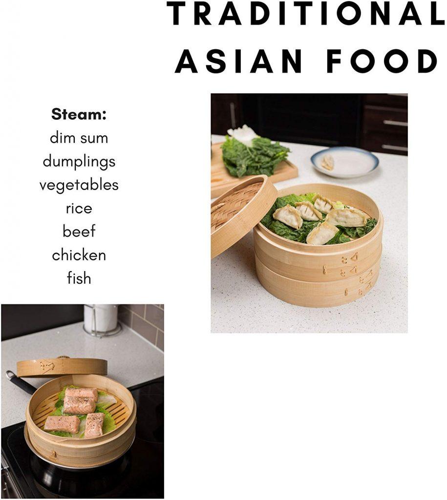 que se puede cocinar con vaporera de bambú.