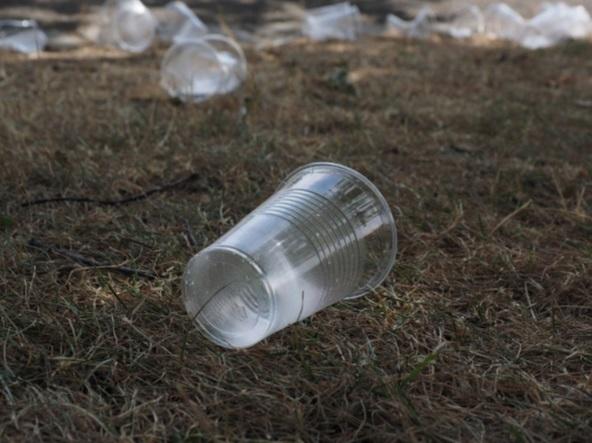 contaminación por vaso de plastico